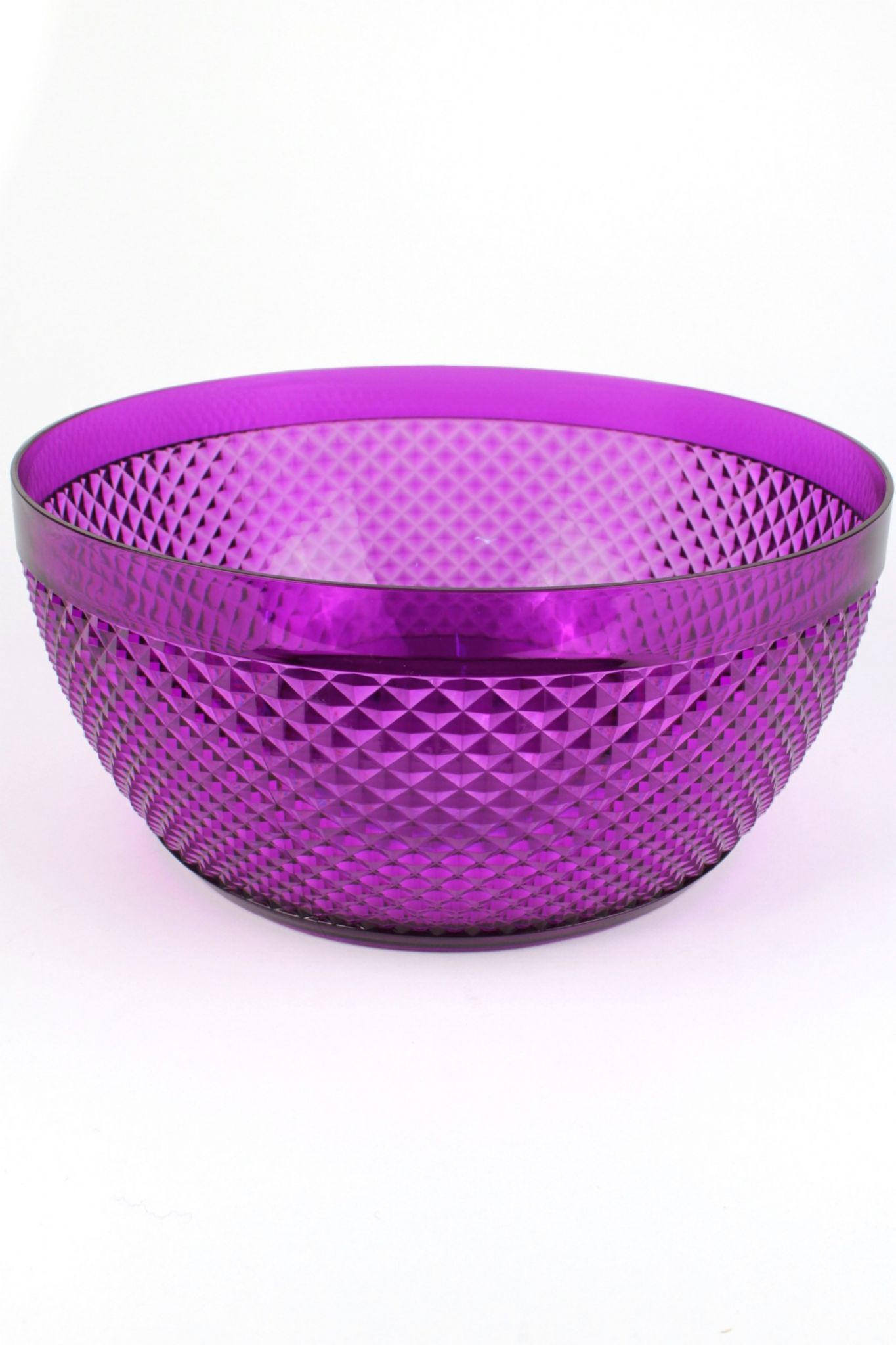 Crystal Effect Plastic Party Serving Bowl Coloured Picnic